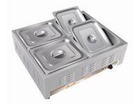 catering Stainless Steel Soup Station Warmer ELECTRIC BAIN-MARIE CATERING EQUIPMENTS 4 POTS