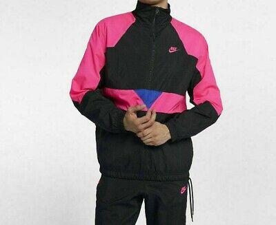 $150 Men Nike Vaporwave Packable 1/2 Zip Woven Windbreaker Jacket XXL AJ2299-010