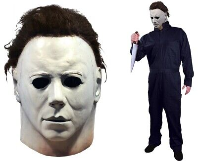 Halloween 1978 Michael Myers Latex Mask + 1978 Coveralls Pre-Order](Halloween Michael Myers Mask 1978)
