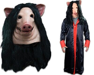 SAW Pig Latex Deluxe Mask + SAW Jig Saw Robe You Get Both + Free Shipping NEW](Pig Saw Mask)