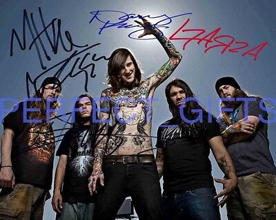 SUICIDE SILENCE MITCH LUCKER BAND SIGNED AUTOGRAPHED 10X8 REPRO PHOTO PRINT