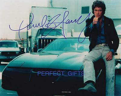 DAVID HASSELHOFF SIGNED PP PHOTO knight rider michael