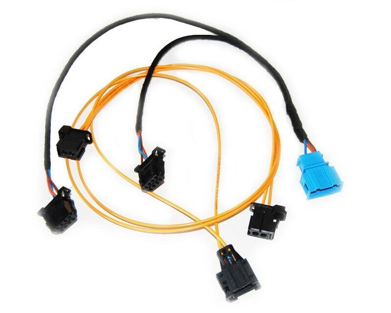 18e1 Cable set CD-changer Audi A4 A8 A6 MMI 2G Plug Play LWL light glass fiber