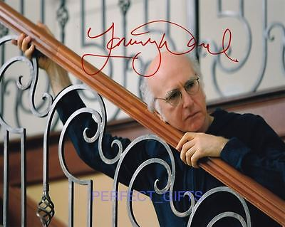 """LARRY DAVID SIGNED 10x8"""" PP PHOTO curb your enthusiasm"""