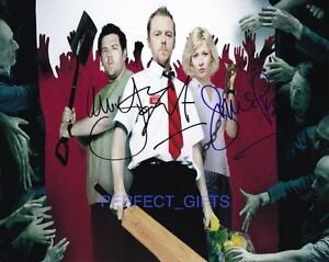 SIMON PEGG NICK FROST SIGNED PP PHOTO shaun of the dead
