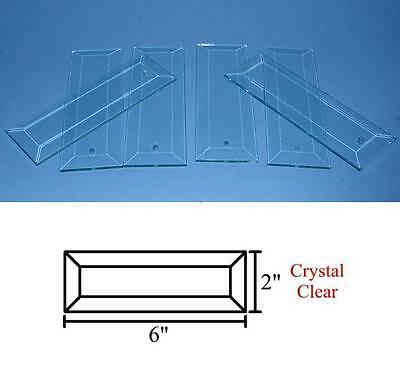 """12 Rectangle Blanks Pre Drilled Hole Stained Glass Etching  2"""" x 6"""""""