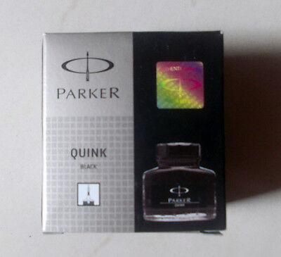 PARKER Quink Ink Bottle ~ BLACK ~ Original, Brand New * Free Shipping