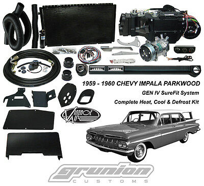 Parkwood Wagon 1959 60 Heat Air Conditioning Defrost Vintage Air Kit 2 Lvr Cntrl