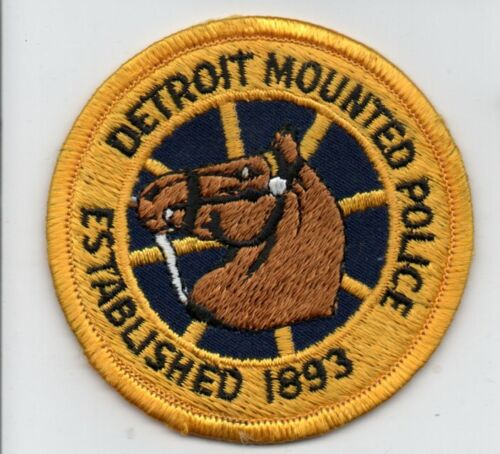 DETROIT Michigan Police MOUNTED Horse Patch