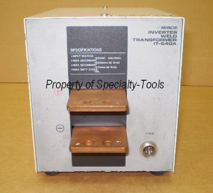 Miyachi Unitek IT-540A spot welder transformer welding