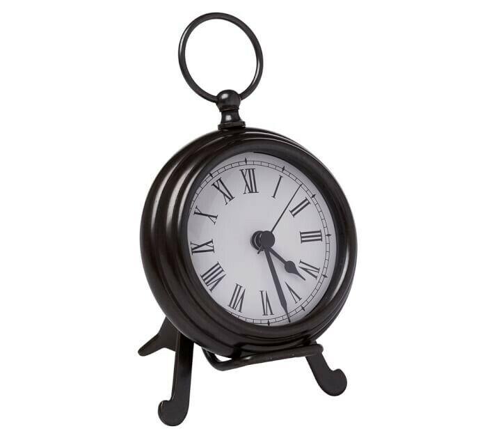 Pottery Barn Pocket Watch Clock Medium Bronze NIB