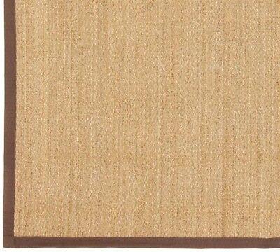 - Pottery Barn Color-Bound Seagrass 9x12' Rug ~ Espresso Brown Border