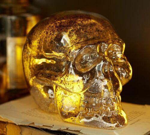 Pottery Barn Mercury Glass Skulls - New/untouched/unused