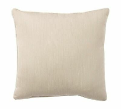 "NEW Pottery Barn Sunbrella LINEN SAND Natural 22"" Outdoor Pillow Cover Up to 6"
