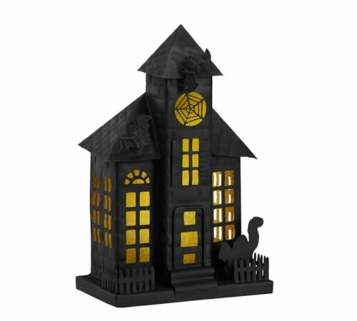 Pottery Barn Halloween Haunted House Iron Medium Luminary Candle Holder
