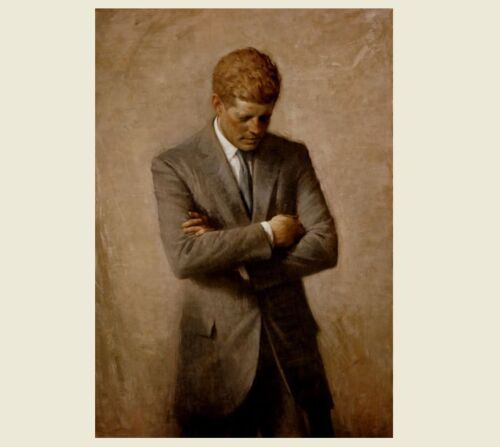 John F. Kennedy Official Portrait PHOTO, Art Print,President White House 1970