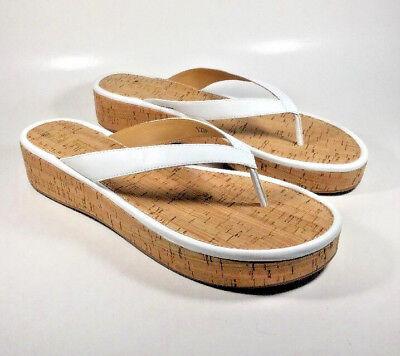 Goldfish Platform Shoes (M2117 New Women's Nine West Goldfish White Platform Sandals Size)