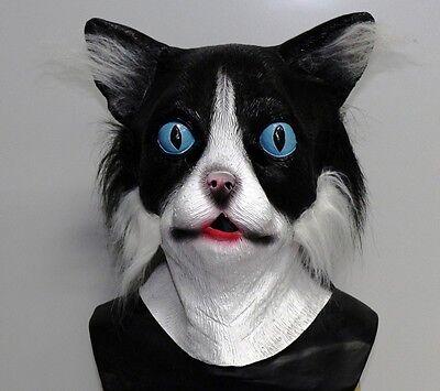 x Katze Maske mit Pelz Tier Kostüm Junggesellenabschied für (Katze Kostüme Für Jungs)