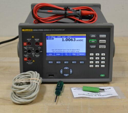 Fluke 2638A Hydra Series III Data Acquisition System w/2638A-100 Input Module