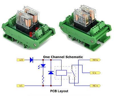 12v Dc Relay Din Rail Mount 2 Spdt 16a Power Relay