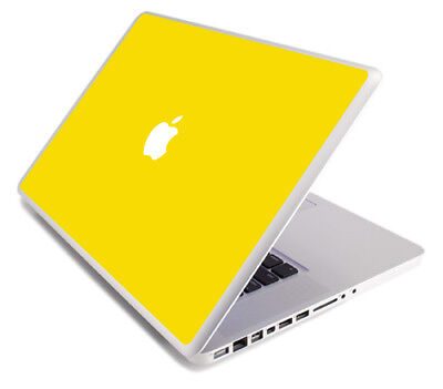 (YELLOW Vinyl Lid Skin Cover Decal fits Apple MacBook Pro 17 A1297 Laptop)