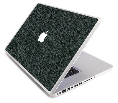 (LEATHER Vinyl Lid Skin Cover Decal fits Apple MacBook Pro 17 A1297  Laptop)