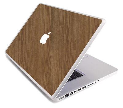(WOOD Vinyl Lid Skin Cover Decal fits Apple MacBook Pro 17 A1297 Laptop)