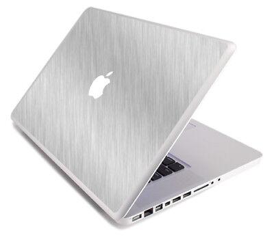 (BRUSHED ALUMINUM Vinyl Lid Skin Decal fits Apple MacBook Pro 17 A1297 Laptop)