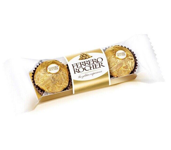 Ferrero Rocher Fine Hazelnut Chocolates, 1.3 oz