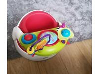 Bumbo seat with toy & tray