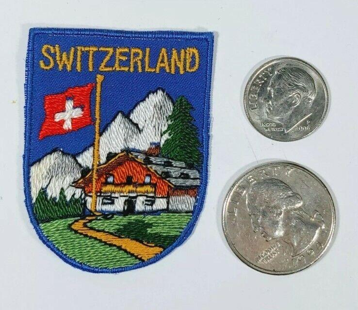 Vintage Switzerland Embroidered Ski patch
