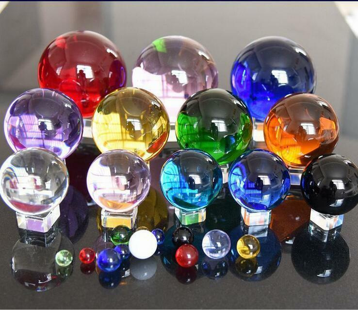 Details about 40-200MM Round Glass Crystal Ball Sphere Buyers Select the  Size Magic Ball