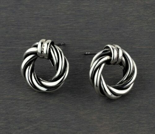 Taxco Mexican Sterling Silver Twisted Rope Stud Earrings