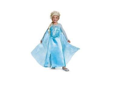 Disney Frozen Elsa Prestige Long Costume Dress 4-6x from - Elsa From Frozen Costume