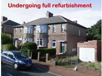 ***UNDERGOING FULL REFURBISHMENT*** Castleside Road , Newcastle. DSS Welcome. LOW MOVE IN COST.