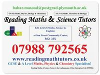 Reading Maths and Science Tutors - Maths and Science Specialists