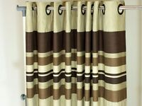 """Lovely pair of eyelet curtains 54"""" x 90"""""""