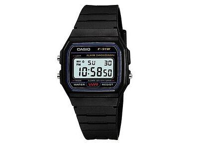 ee87b91954af Casio Clásico f-91w-1yer Para Hombre Casual Resistente Al Agua Reloj Digital