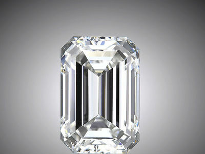 2.01 carat Emerald cut Diamond GIA H color VS1 clarity no flour. Excellent loose