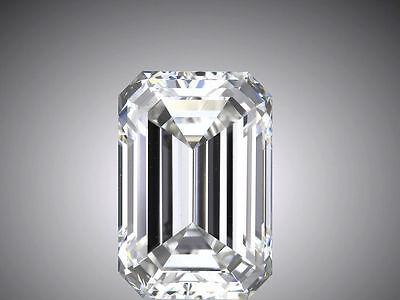 3.01 carat Emerald cut Diamond GIA F color VS2 clarity no flour. Excellent loose