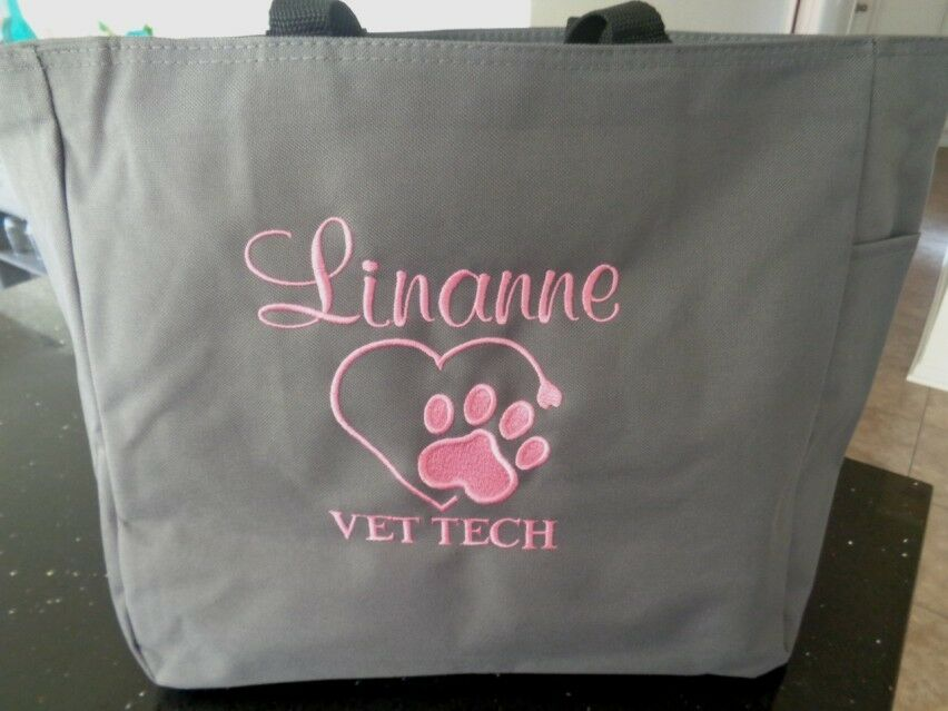 1 TOTE Bag VET DR VET TECH  TECHNICIAN OFFICE GIFT ANIMALS P