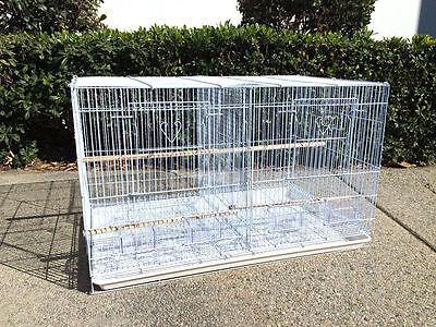 NEW Aviary Bird Breeder Breeding Cage 24x16x16H With Center Divider WHT - 358