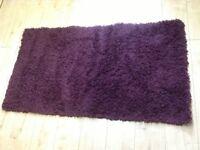 Great Condition Purple Rug, Medium Size