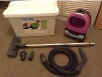 Powerful 1600w PHILIPS Bagless Hoover Vacuum Cleaner, With Box and Accessories, Excellent condition