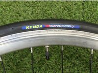 Double wall Fully Alloy Front Wheel, for Road Racing or Hybrid Bike + KENDA TYRE & QUICK RELEASE