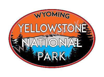 Yellowstone National Park Wyoming Decal Sticker Vinyl Mountains Explore Hiking
