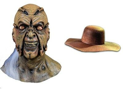 JEEPERS CREEPERS Latex Mask + CREEPER HAT YOU GET BOTH Trick or Treat Studios