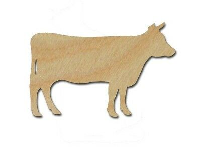 Cow Shape Unfinished Wood Farm Animal Cutouts Variety of Sizes Made In USA