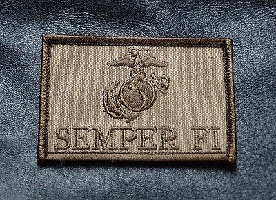 USMC Semper Fi TACTICAL COMBAT MORALE 3 INCH HOOK PATCH