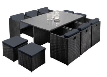 Brand New outdoor dining set table and chairs 11pcs